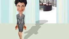 Business Frau ärgert sich