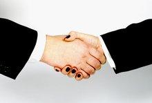 Handschlag der Geschlechter