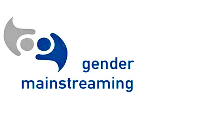 Logo des Berechs Genderpolitik, zwei stilisierte Köpfe