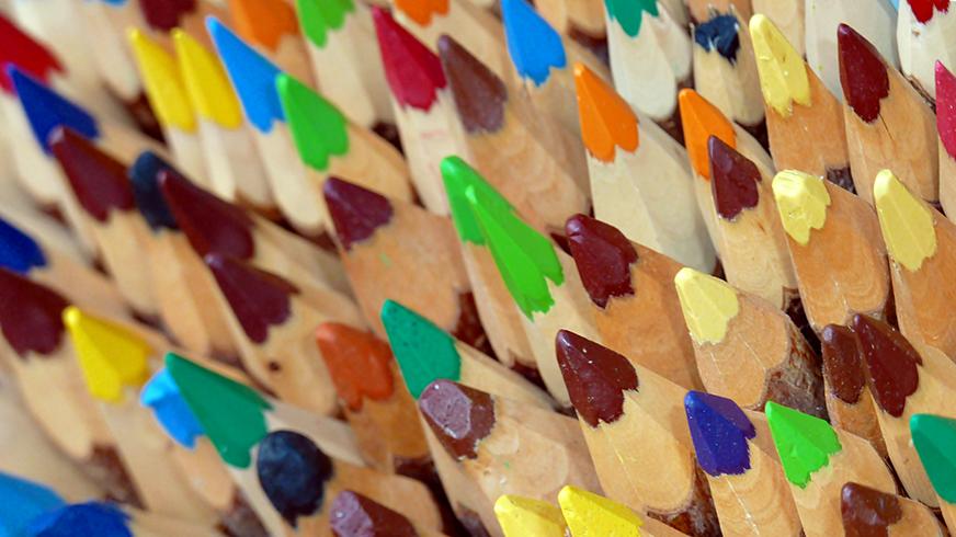 Bunte Stifte Farbenfroh Vielfalt Diversität