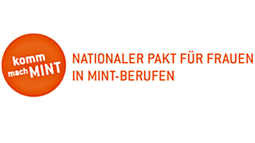 """Logo zur Initiative """"Komm, mach MINT"""" des Kompetenzzentrums für Technik, Diversity, Chancengleichheit e.V."""