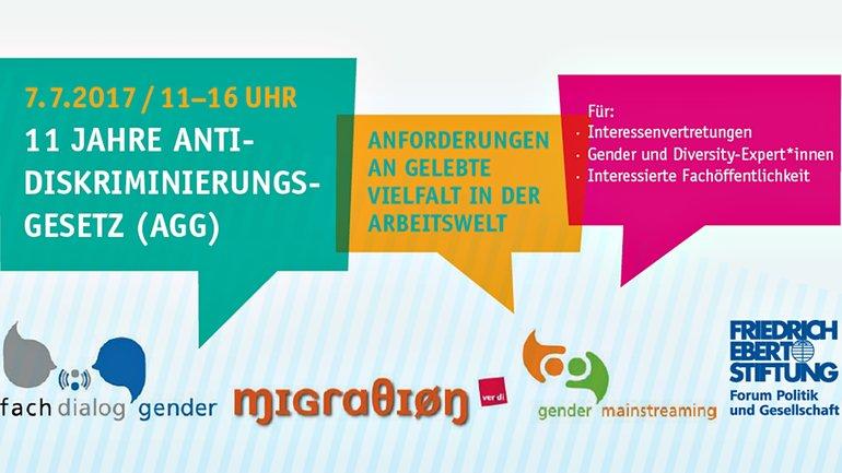 20. Gender Fachdialog: 11 Jahre AGG (Header)