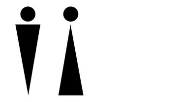 Mann Frau Symbol (Bühne)