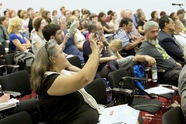 Gespanntes Publikum beim 20. Fachdialog Gender